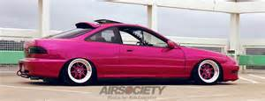 Pink Acura Pink Integra On Air Ride