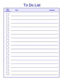 things to do list template pdf