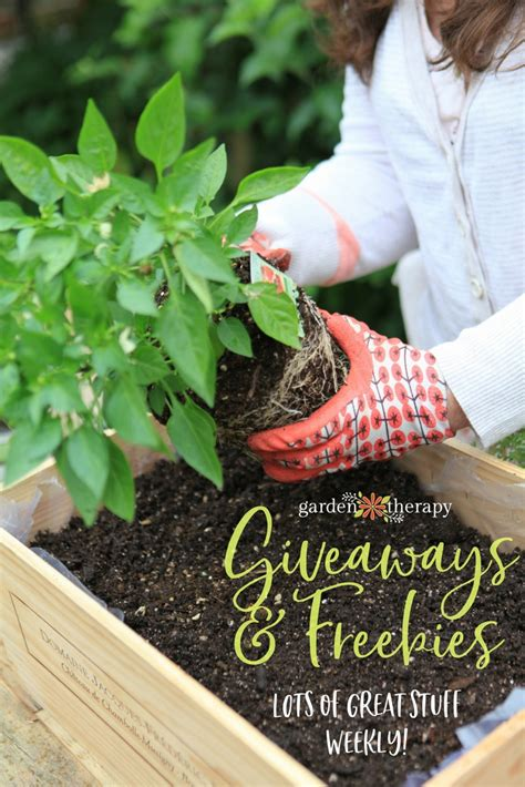 Giveaways And Freebies - giveaways freebies garden therapy