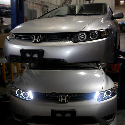 2008 honda civic coupe lights 06 11 honda civic coupe dual halo led projector headlights