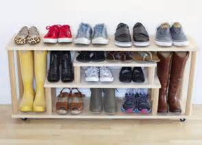 Entryway Shoe Holder Diy Plywood Shoe Rack At Home In Love