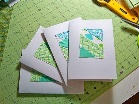 Patchwork Cards - patchwork cards tutorial pioneervalleygirl