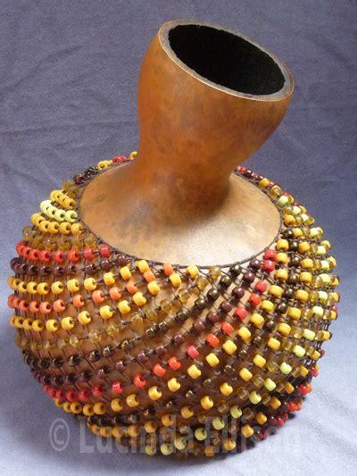 beaded gourd instrument sunset shekere