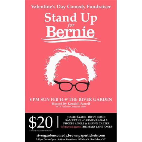 s day comedy stand up for bernie a s day comedy fundraiser