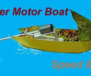 How To Make A Paper Motor Boat - convert your paper boat to a motor speed boat 2