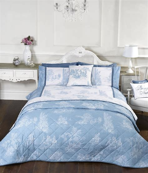 Luxio Lorca Bed Set Sydney Blue Uk 90 X 200 Fullset vintage style blue quilt duvet covers or cushion cover or decorative bedspread