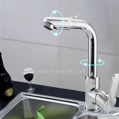 discount kitchen sink faucets cheap full rotatable one hole kitchen sink faucet