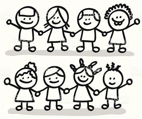 kid clipart black and white children holding clipart in black and white 101