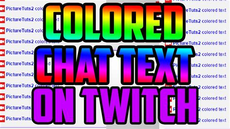 color text twitch how to colored chat text on twitch tv how