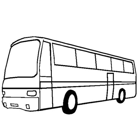 City Bus Netart Station Coloring Page
