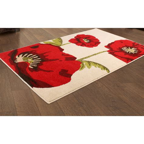 Poppy Kitchen Rug Poppy Kitchen Rug Poppy Rug Dining Kitchen House Garden Freemans Poppies Area Rugs