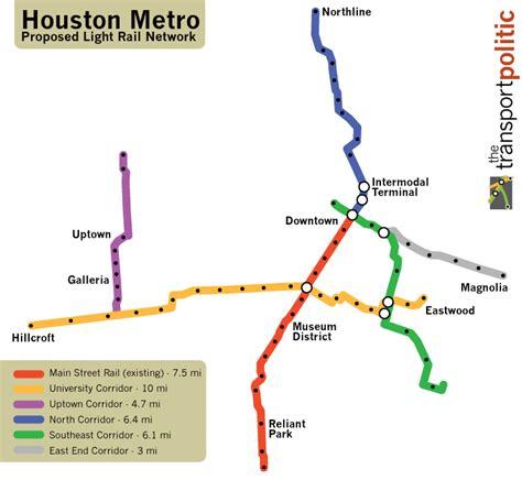 houston map with metro rail houston readies four light rail lines by 2012 171 the