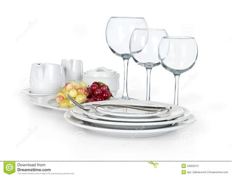 Kitchen Cups And Plates by Kitchen Set Of Cups Plates And Jars Stock Photos Image