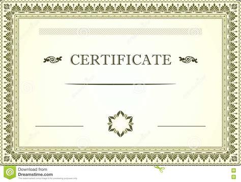 floral design certificate edmonton certificate floral border and template design stock vector