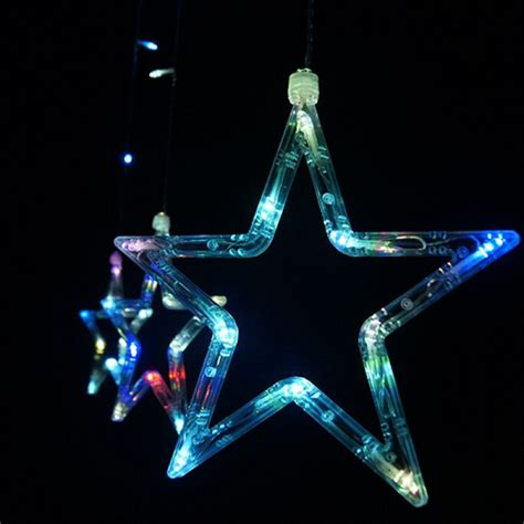 buy led stars curtain light string christmas wedding