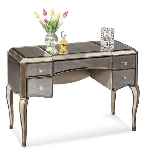 Mirrored Desks And Vanities by Mirrored Gold Cabriole Leg Desk Vanity
