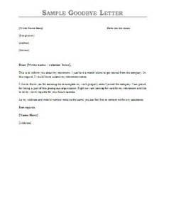 sample goodbye letter formsword word templates amp sample