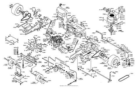 dixon ztr   parts diagram  chassis assembly