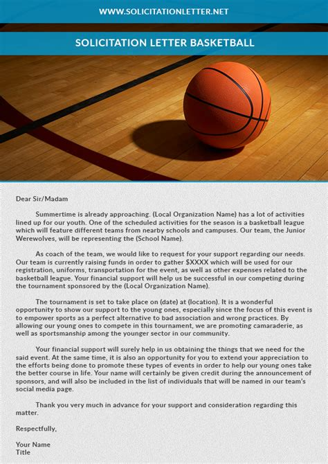Donation Letter For Basketball Team Search Results For Letter Paper Templates Calendar 2015
