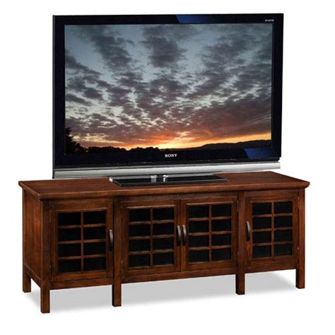 Cabinet For 60 Inch Tv by Holliday Chocolate And Black Glass 60 Inch Wide Tv