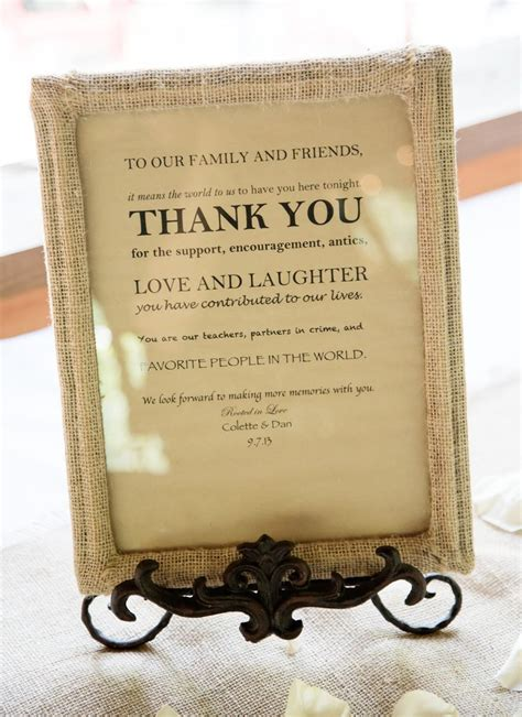 thank you sign for gift table wedding wedding signs