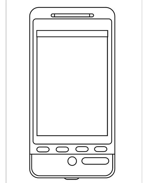mobile page mobile phone coloring pages and drawing for learning