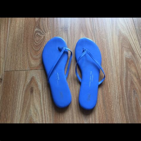 gap slippers gap blue leather slippers from f s closet on poshmark