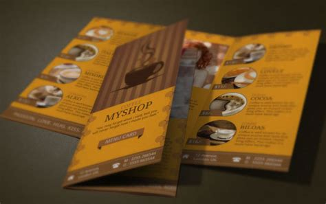 10 awesome coffee shop brochure templates for coffee