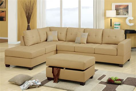 Poundex Sectional Sofa F7326 Khaki Sectional Sofa Set By Poundex