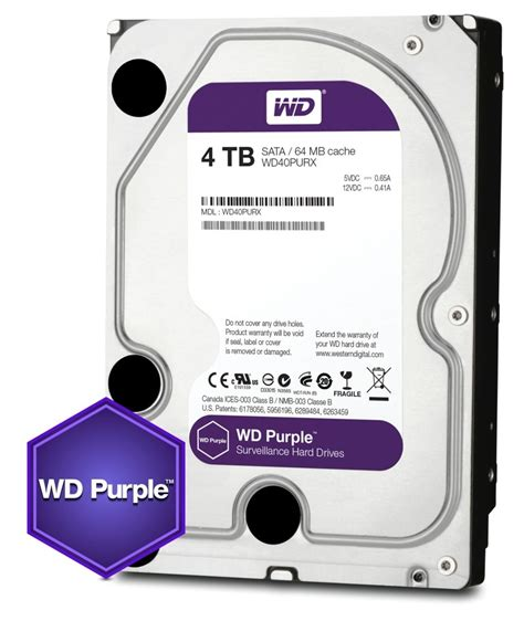 Wdc Purple 6tb 64mb Sata3 7200 Rpm For Cctv Wd60purx western digital launches wd purple 3 5 inch 4tb drive