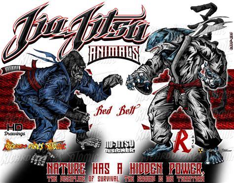 bjj sale jiu jitsu shark x gorilla animals fighters color jiu