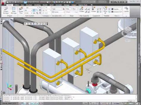 tutorial autocad piping autocad plant 3d manifold pipe routing youtube