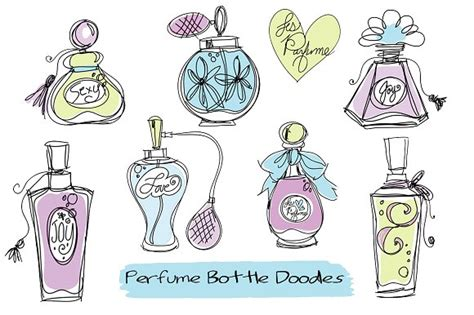 Doodle Perfume Bottles Clipart Illustrations Creative