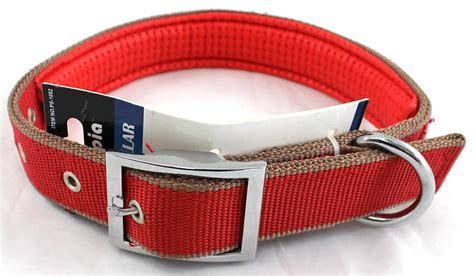 comfortable collars padded canvas large collar with metal grommets comfortable adjustable new ebay