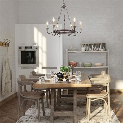 french country chandeliers  dining room