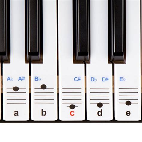 piano and keyboard note stickers new and improved keysies transparent plastic removable