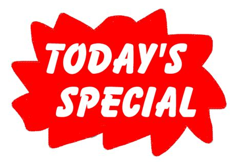 today s today s special clipart