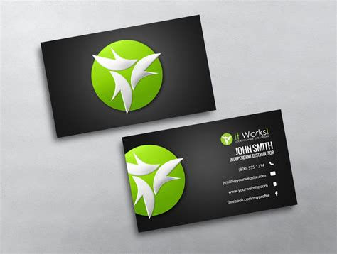 it works global business card template business cards for it works global gallery card design