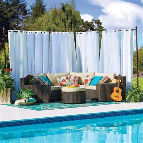 outdoor curtain rod with post set 25 best ideas about outdoor curtain rods on pinterest