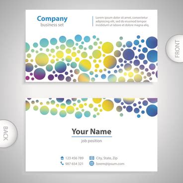 front and back business cards templates human front and back outline free vector