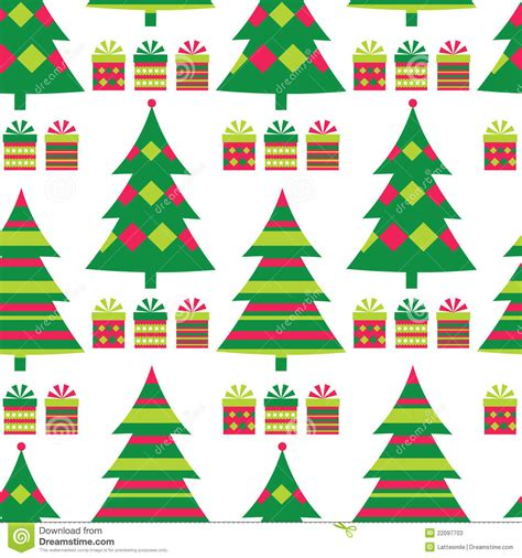 christmas tree bowling pattern christmas tree seamless pattern stock vector image 22097703