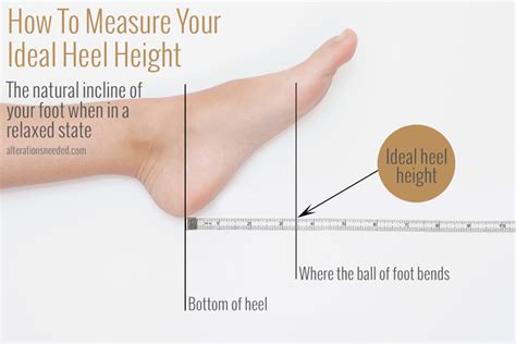 how to your to heel perfectly how to measure your ideal heel height alterations needed
