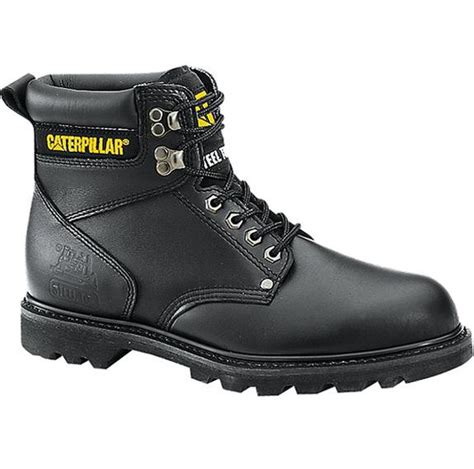 sears caterpillar boots second shift 6 quot black steel toe boot protection from