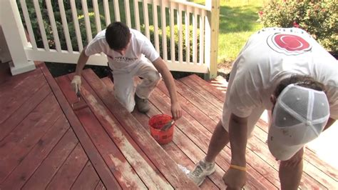 Removing Stain From Wood Deck by Is It Better To Stain Or Paint My Wood Deck Youtube