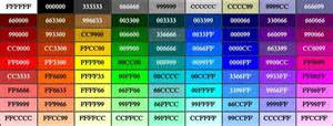 html background color codes rgb colour chart click to zoom its all about the