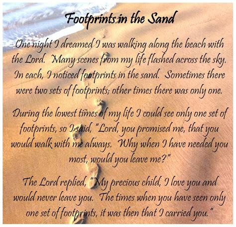 printable version footprints in the sand footprints in the sand poem printable version