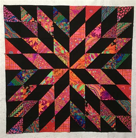 Triangle Patchwork Quilt - starburst quilt top what an easy pattern quilts