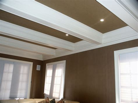 How To Paint Ceiling Beams by Beam Box Coffered Ceiling Custom Carpentry Custom