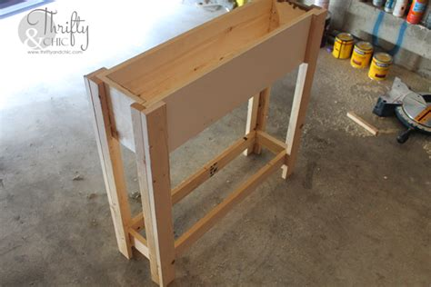 make a sofa table thrifty and chic diy projects and home decor