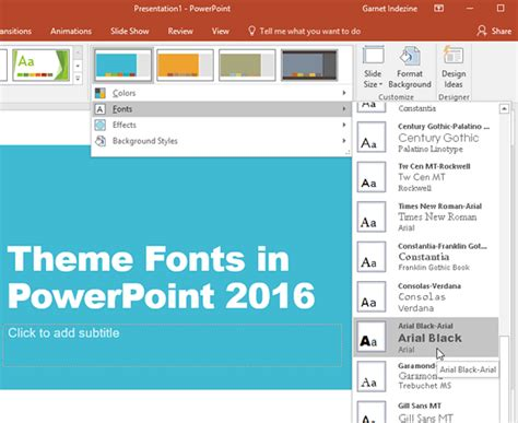 themes for windows 7 powerpoint theme fonts in powerpoint 2016 for windows